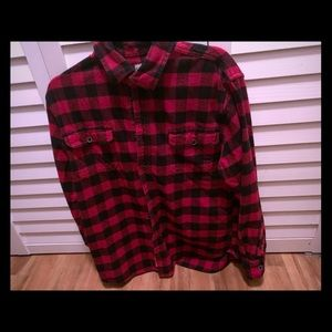 Jack's Flannel size large but fits like a medium